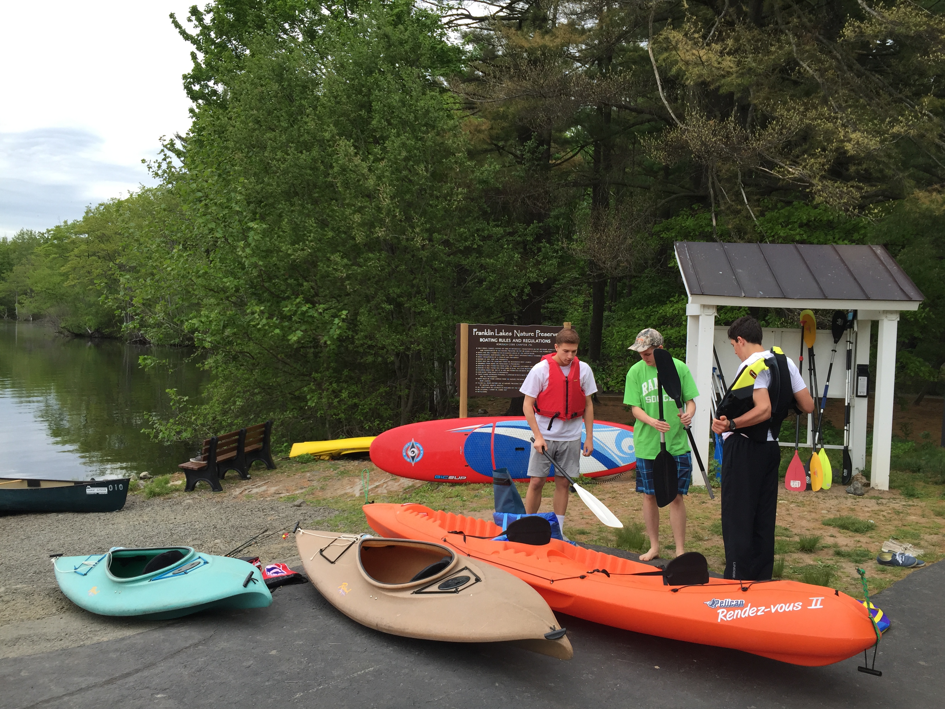 Boating at Nature Preserve - Borough of Franklin Lakes